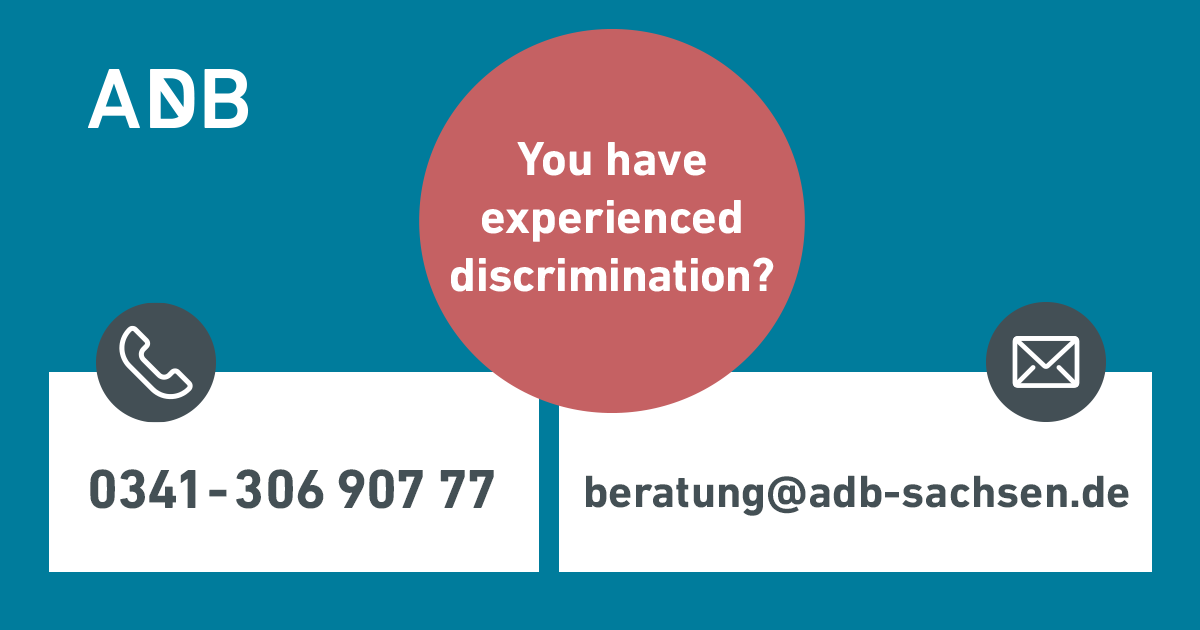 Grafik Englisch: You have experienced discrimination?