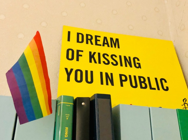 I dream of kissing you in public